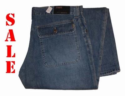 """Double face jeans """" Klepzak op de achterkant  """"  Medium used"""