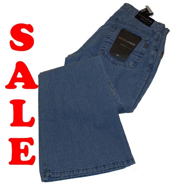 """Double face stretch jeans  """" Bootcut """" Licht blauw used"""