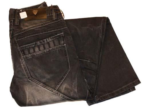 """Oil jeans """" Zwart / grijs used """""""