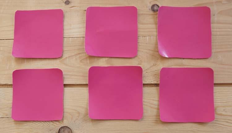 """Vierkanten onderzetters """" Roze """" set 6 stuks"""