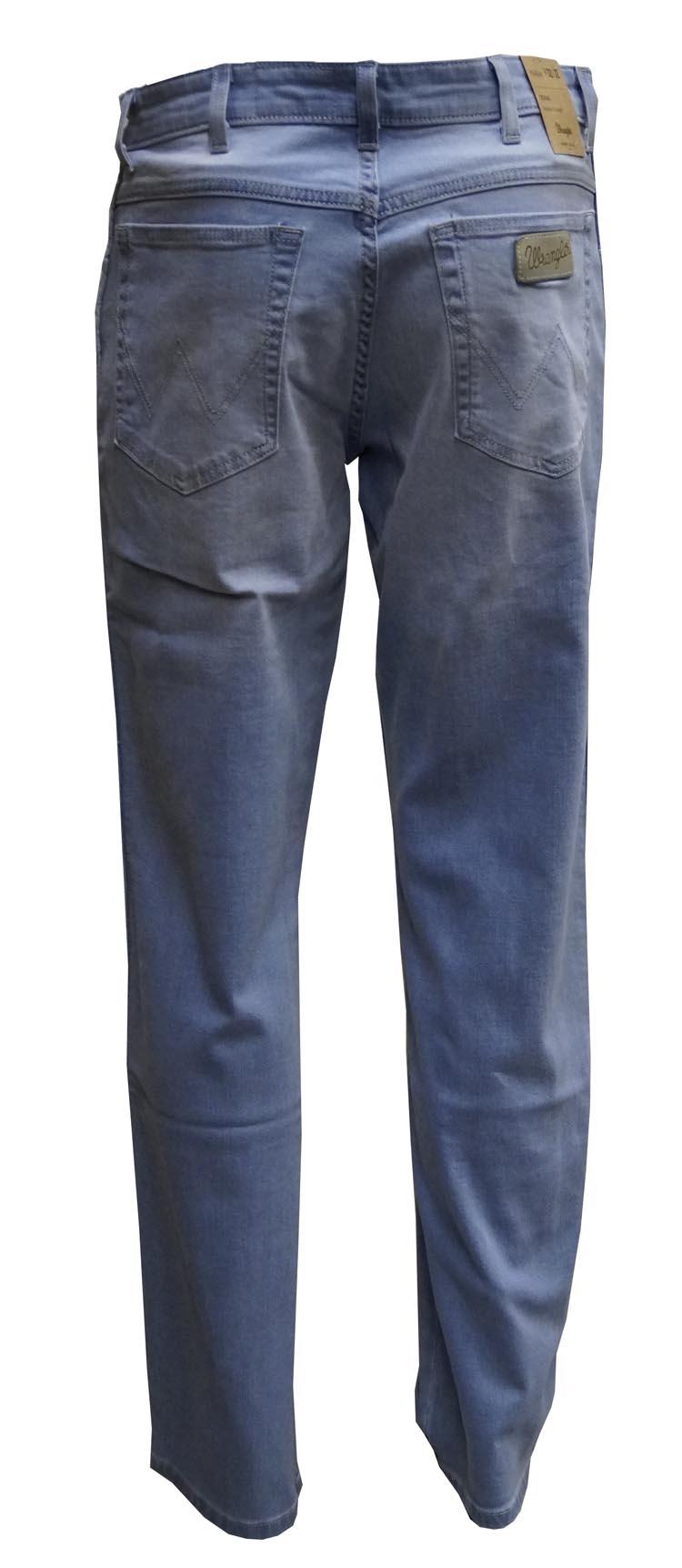 """Wrangler stretch jeans  """"  Texas """"  Heel licht blauw used"""