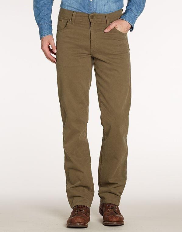 "Wrangler stretch jeans "" Texas "" Donker beige"