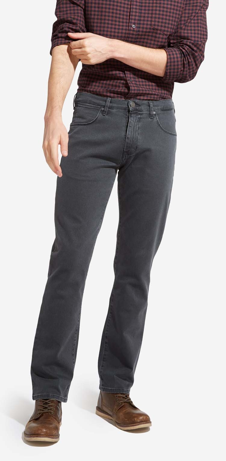 "Wrangler stretch jeans "" Texas "" Donker grijs"