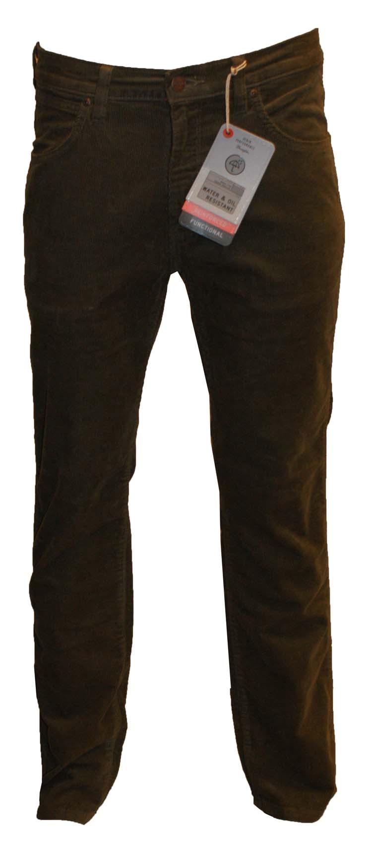 "Wrangler stretch jeans ""Arizona "" Corduroy Groen / bruin"